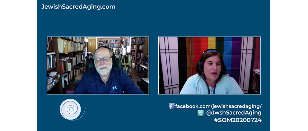 Rabbi Richard Address interviews Rabbi Denise Eger on the July 24, 2020 Seekers of Meaning Podcast and TV show