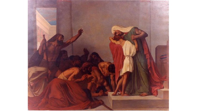 Joseph recognized by his brothers, by Léon Pierre Urbain Bourgeois, 1863 oil on canvas, at the Musée Municipal Frédéric Blandin, Nevers