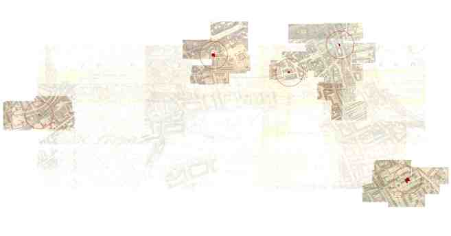 Maps showing location of synagogues in Edinburgh. Click on the icon lower right to explore at full resolution.