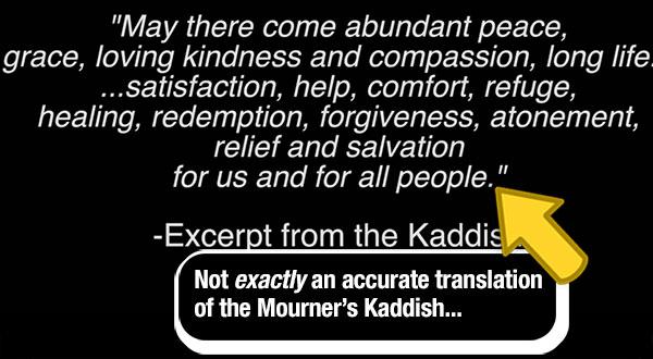 Actual Kaddish ends with