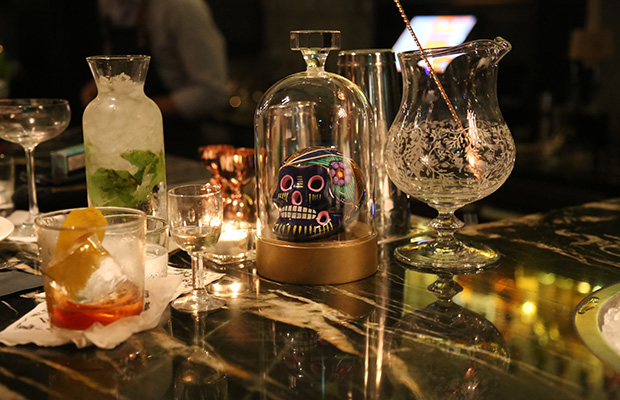 Exquisite mixology and Sugar Skull