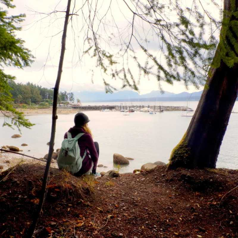 Hiking Ford's Cove Trail on Hornby Island