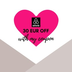 Get 30 EUR airbnb travel credit when you sign up with my coupon