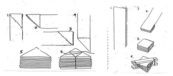 shibori technique pliage