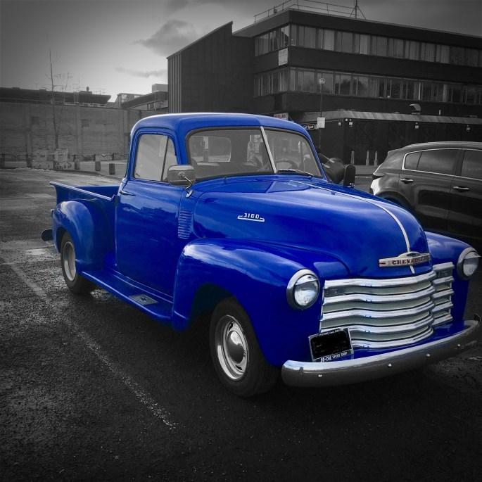 Chevrolet 3100 at Cumbernauld, Glasgow, by Jez Braithwaite