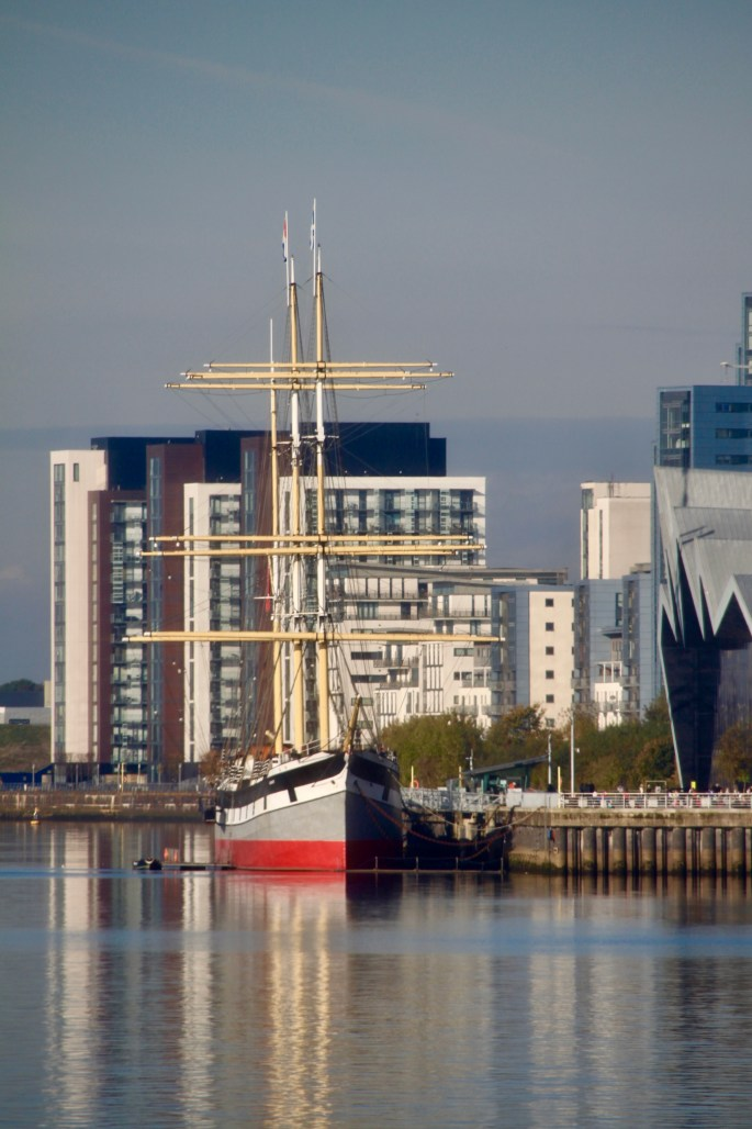 The Glenlee berthed at the Riverside Museum by Jez Braithwaite