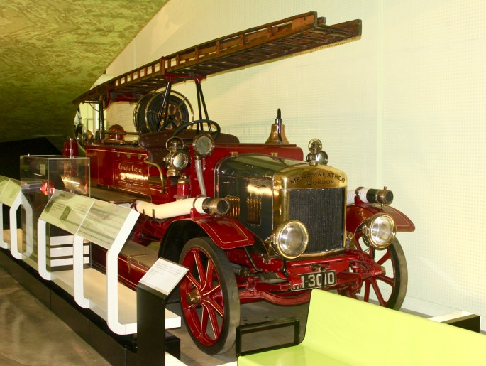 Fire Truck in riverside museum by Jez Braithwaite