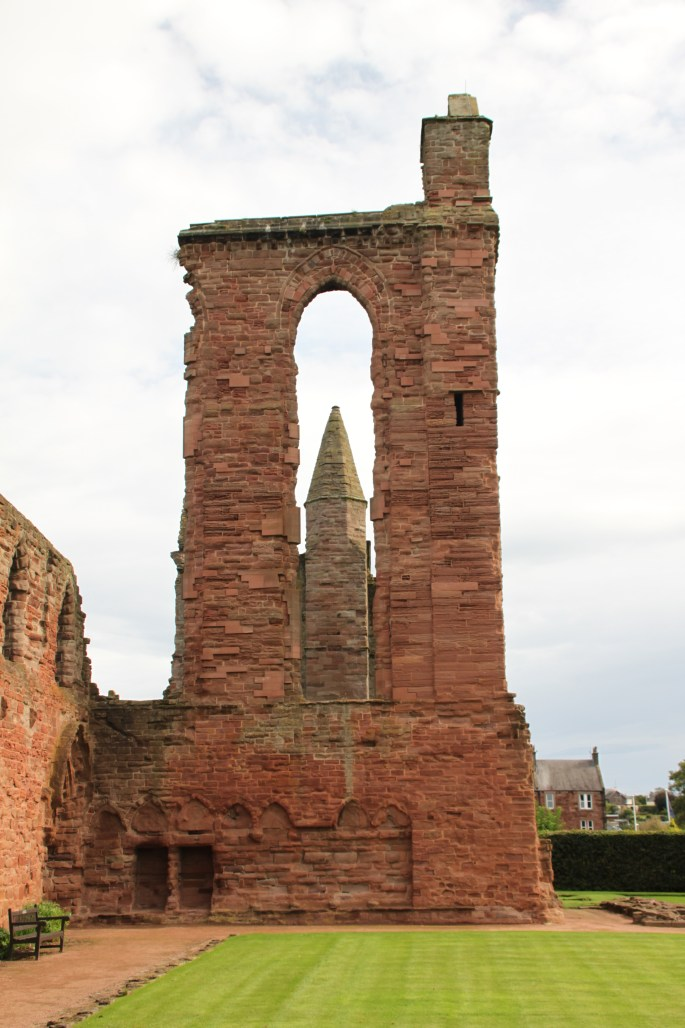 Tower in Arbroath Abbey ruins by Jez Braithwaite