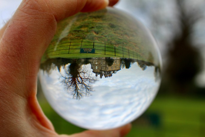 Cumbernauld House through a lensball