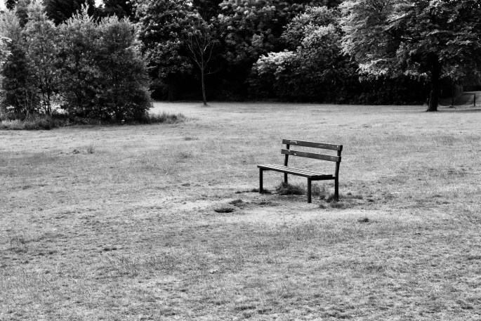 Bench in Cumbernauld House Park