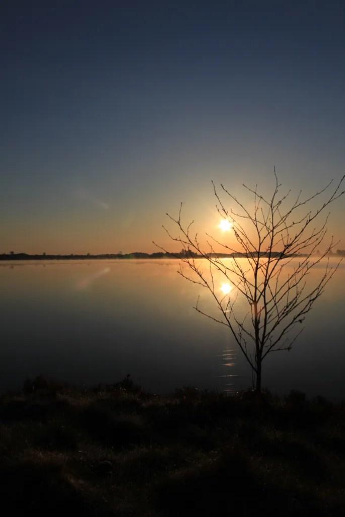 Sunrise reflections at Fannyside Lochs