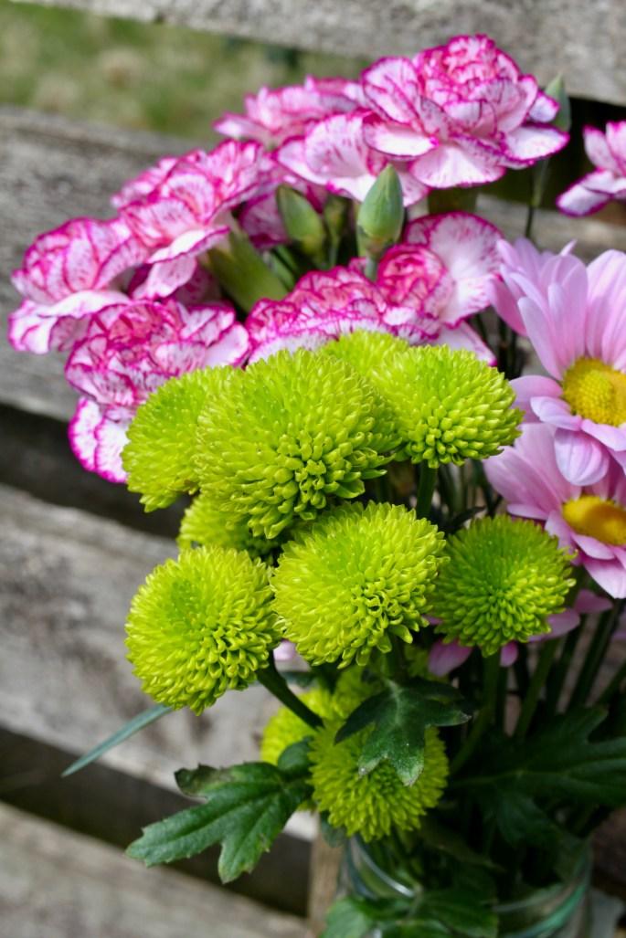 Green chrysanths