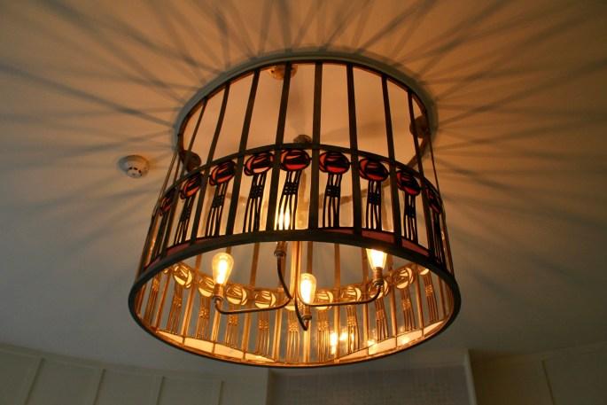 Charles Rennie Mackintosh light fixture