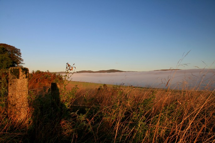 Low cloud in the Forth Clyde Valley
