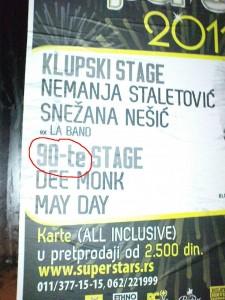 pravopisna greška na plakatu