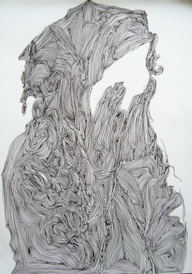 Shabbat shalom, inkt op papier 29,7 x 42,0 cm A3 mei 2016