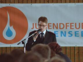 Stellvertretender Kreisjugendfeuerwehrwart Markus Löffler