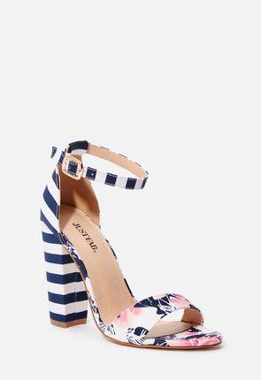 Lena Stripe Heeled Sandal