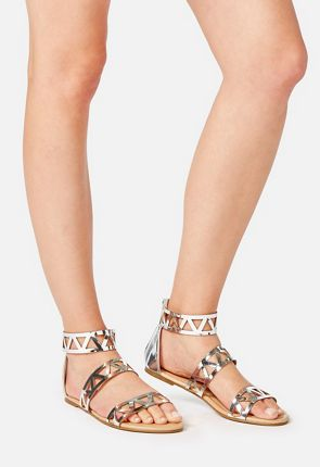 Aimee Cage Strap Flat Sandal