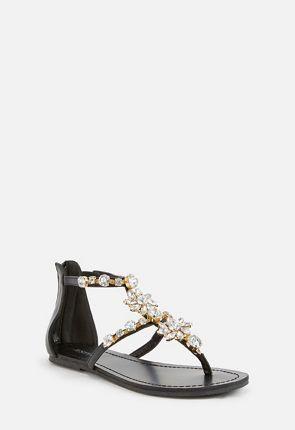 Nadya Beaded Flat Sandal