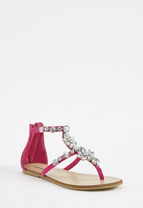 Nadya Beaded Flat Sandal