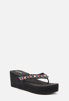 Leyna Wedge Flip Flops