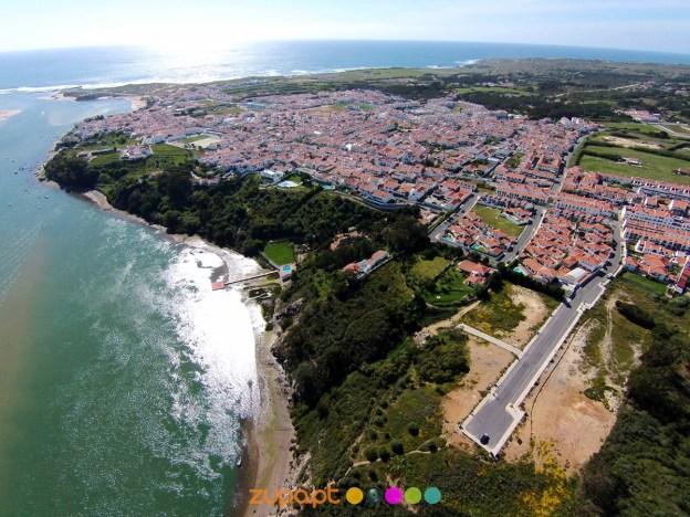 Panorâmica sobre Vila Nova de Milfontes