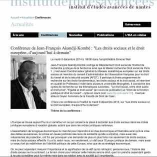 Conférence IEA 12-2014