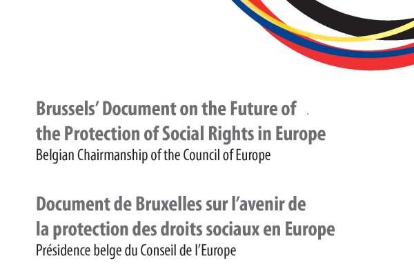 Vient de paraître : Le document de Bruxelles sur l'avenir de la protection des droits sociaux en Europe