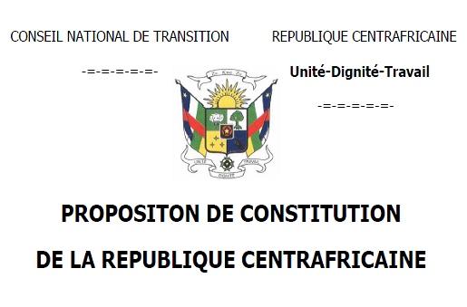Centrafrique : Pour savoir si enrichissement de la Constitution il y a bien eu…