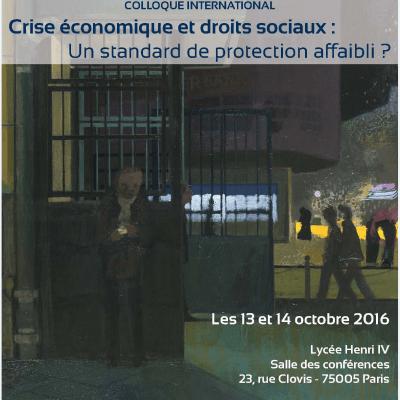 Ne ratez pas : Paris 12-13 octobre, grand colloque international sur les droits sociaux