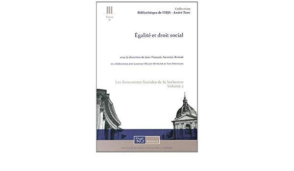 [biblio.jfak] – Égalité et Droit social – Ouvrage [télécharger…]