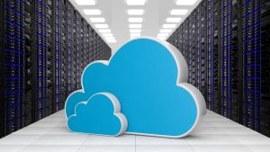 Datacenter with two Cloud storage symbols