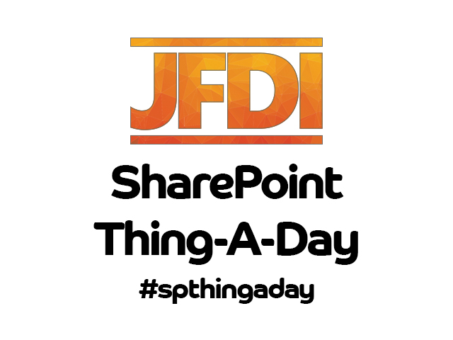 SharePoint Thing-A-Day #007 – Information Architecture – Content Types.