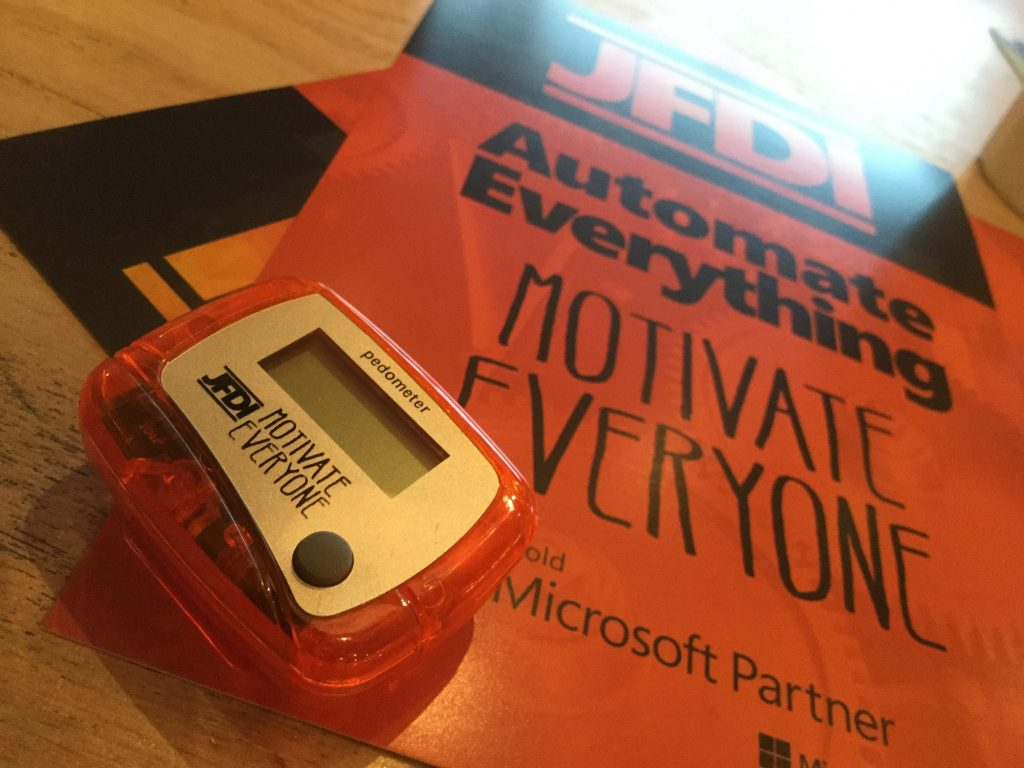 JFDI Motivate Everyone pedometer