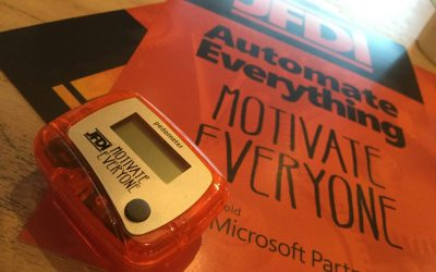 Microsoft Flow driven Pedometer Challenge Twitter competition
