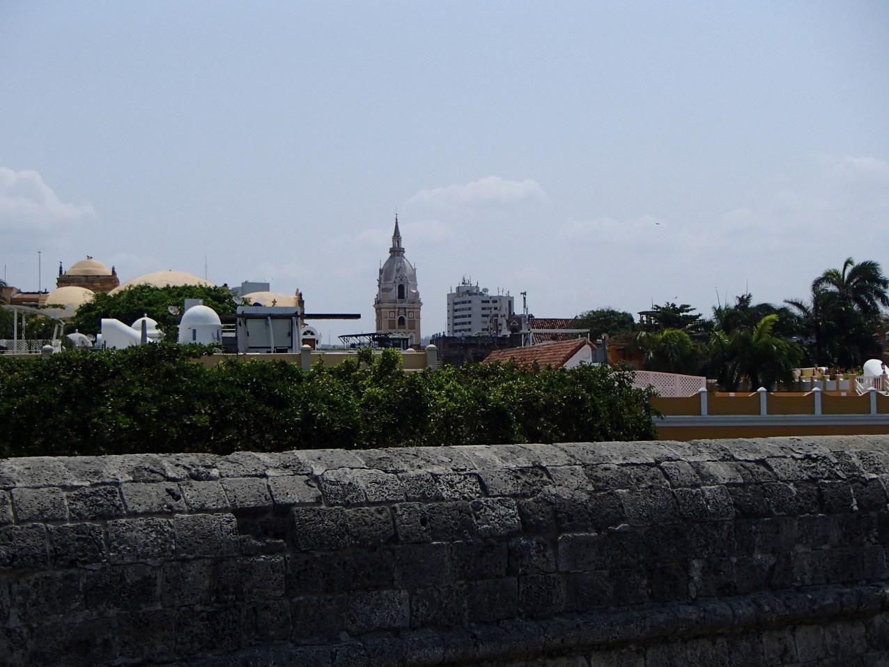 The wall around Cartagena