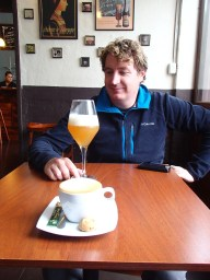 I had a coffee as this beer was distinctly home brew and not to my taste