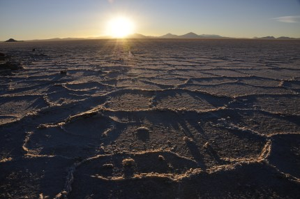 Sunset on the Salar was a special time