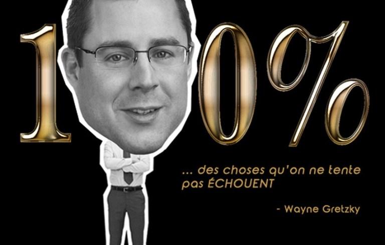 Read more about the article 100 % des choses qu'on ne tente pas échouent – Wayne Gretzky