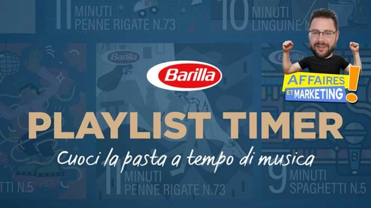 Barilla propose des playlists pour réussir vos pâtes à la perfection