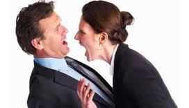 A raiva é descontada em pessoas mais próximas.