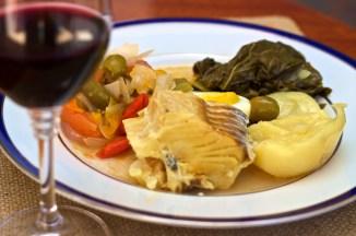Bacalhau, prato típico da culinária portuguesa.