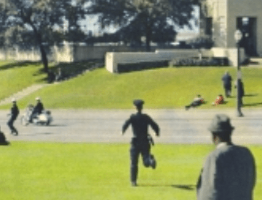 Grassy knoll aftermath