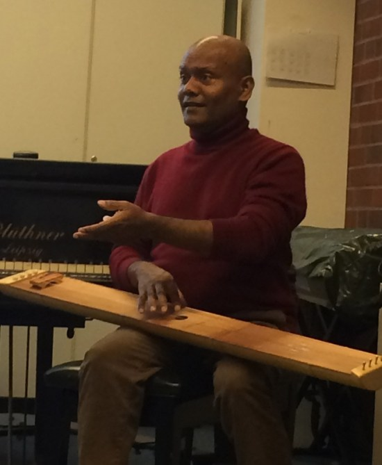 Manickam Yogeswaran conducts south Indian Carnatic vocal workshops for 10th grade music students in February and March, 2015 with a culminating lunchtime concert on March 27.