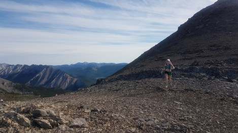 Arielle running along the ridge