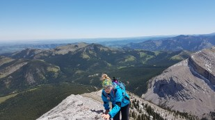 The ridge scrambling was fun, and the views were awesome.