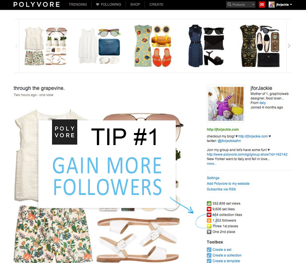 27 MAY 2013 - Polyvore Tip Gain more followers