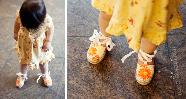 23 June 2013 - Julienne's first espadrilles from spain