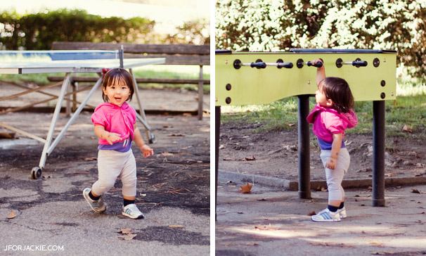 Julienne playing at the park